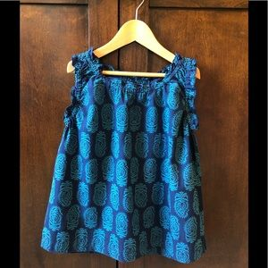 Peek Pretty Blue on Blue Print, Cotton sz 6-7